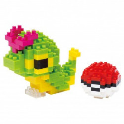 CATERPIE CHENIPAN AND POKEBALL NANOBLOCK POKEMON BUILDING BLOCK SET