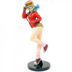BULMA RED JACKET DRAGON BALL GLITTER AND GLAMOURS FIGURE