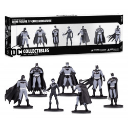 BATMAN BLACK & WHITE PACK 7 FIGURINES PVC BOX SET NUMERO 1 TAILLE ENV 10 CM