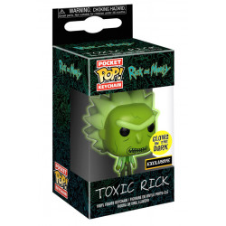 TOXIC RICK EXCLUSIVE RICK AND MORTY POCKET POP! KEYCHAIN