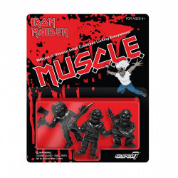 IRON MAIDEN PACK 3 FIGURINES MUSCLE (BLACK) 4 CM