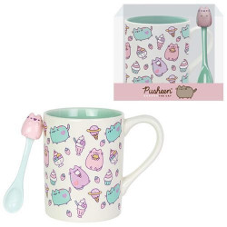 MUG WITH SPOON SET FROM THE PUSHED BY OUR NAME IS MUD COLLECTION BY ENESCO