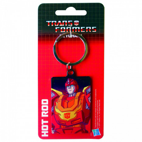 HOT ROD TRANSFORMERS METAL KEYRING