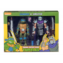 LEONARDO VS SHREDDER TEENAGE MUTANT NINJA TURTLE 2 PACK ACTION FIGURE