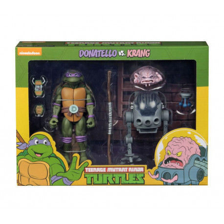 DONATELLO VS KRANG TEENAGE MUTANT NINJA TURTLE 2 PACK ACTION FIGURE