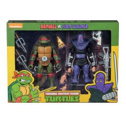 RAPHAEL VS FOOT SOLIDER TEENAGE MUTANT NINJA TURTLE 2 PACK ACTION FIGURE