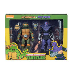 MICHELANGELO VS FOOT SOLDIER TEENAGE MUTANT NINJA TURTLE 2 PACK ACTION FIGURE