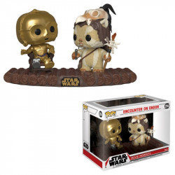 C-3PO ON THRONE STAR WARS PACK 2 POP! MOVIE MOMENTS VINYL BOBBLE HEAD 9 CM