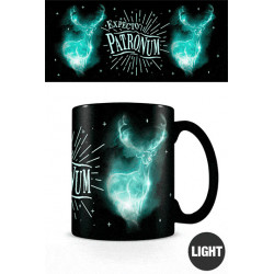 EXPECTO PATRONUM HARRY POTTER MUG GLOW IN THE DARK