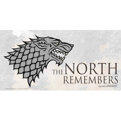 GAME OF THRONES POSTER EN VERRE THE NORTH REMEMBERS 50 X 25 CM