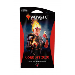 RED THEME BOOSTER CORE SET 2020 MAGIC THE GATHERING ANGLAIS