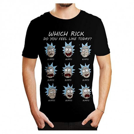 RICK AND MORTY EMOTIONS T SHIRT SIZE EXTRA LARGE