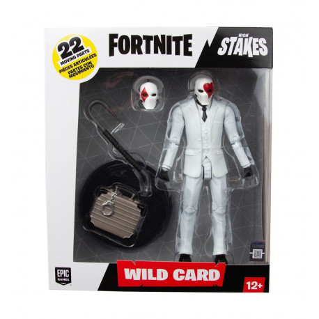 RED SUIT WILD CARD FORTNITE HIGH STAKES PREMIUM ACTION FIGURE
