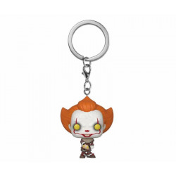 PENNYWISE WITH BEAVER HAT IT CHAPTER TWO POCKET POP VINYL FIGURE KEYCHAIN