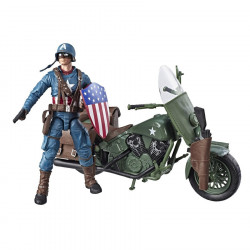 CAPTAIN AMERICA WITH MOTORCYCLE MARVEL LEGENDS ACTION FIGURE PACK