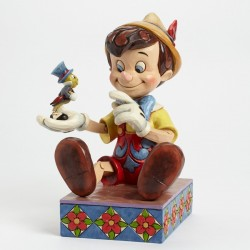 DISNEY TRADITIONS PINOCCHIO & JIMINY JUST GIVE A WHISTLE STATUE
