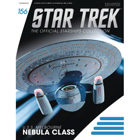 USS MELBOURNE NEBULA CLASS STAR TREK STARSHIPS NUMERO 156