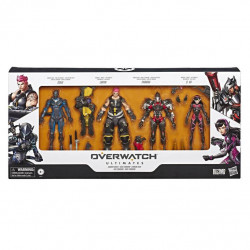 OVERWATCH GENJI PHARAH ZARYA AND D.VA ACTION FIGURES 4PACK 18 CM