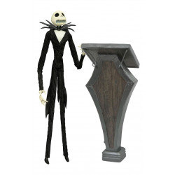 JACK WITHE PODIUM THE NIGHTMARE BEFORE CHRISTMAS COFFIN DOLL