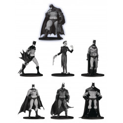 BATMAN BLACK & WHITE PACK 7 FIGURINES PVC BOX SET 3 10 CM