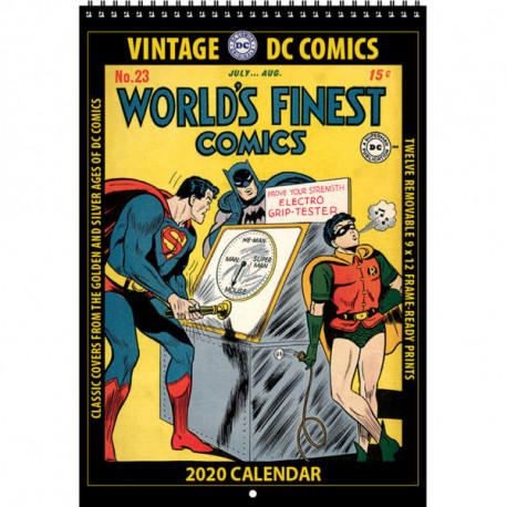 DC COMICS VINTAGE DC COMICS 2020 WALL CALENDAR