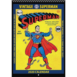 SUPERMAN VINTAGE DC COMICS 2020 WALL CALENDAR