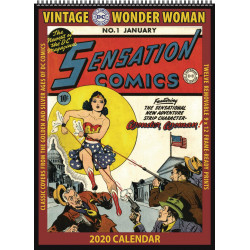WONDER WOMAN VINTAGE DC COMICS 2020 WALL CALENDAR