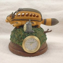 MINI HORLOGE CHAT BUS ET TOTORO