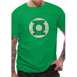 GREEN LANTERN LOGO DISTRESSED DC COMICS T SHIRT SIZE SMALL