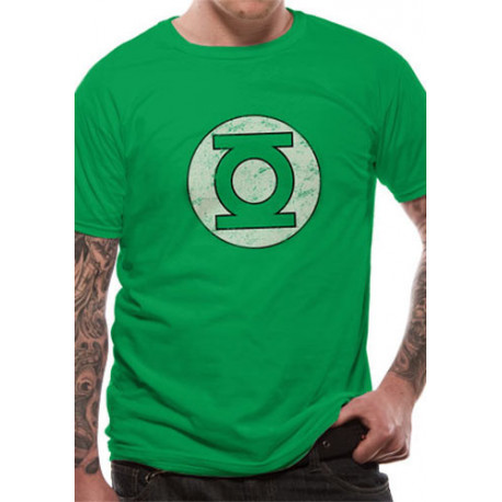 GREEN LANTERN LOGO DISTRESSED DC COMICS T SHIRT SIZE LARGE