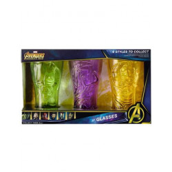 AVENGERS INFINITY WAR GLASSES 3 PACK HULK GROOT THOR