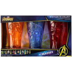 AVENGERS INFINITY WAR GLASSES 3 PACK IRON SPIDER CAPTAIN AMERICA IRON MAN