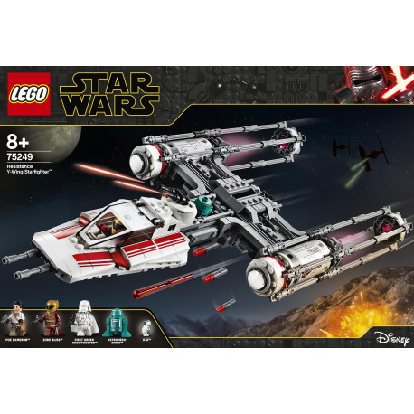 RESISTANCE Y WING STARFIGHTER STAR WARS LEGO BOX 75249