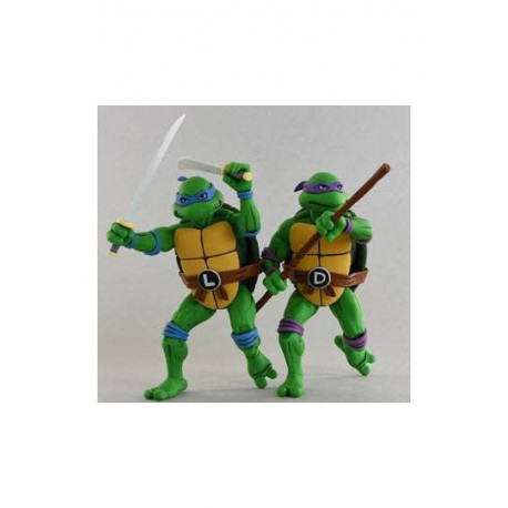 LEONARDO & DONATELLO LES TORTUES NINJA PACK 2 FIGURINES 18 CM