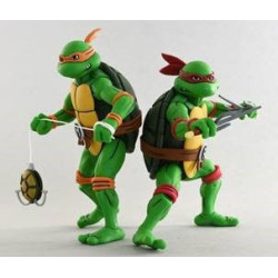 MICHELANGELO & RAPHAEL LES TORTUES NINJA PACK 2 FIGURINES 18 CM