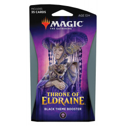 MAGIC THE GATHERING THRONE OF ELDRAINE BLACK THEME BOOSTER VERSION ANGLAIS