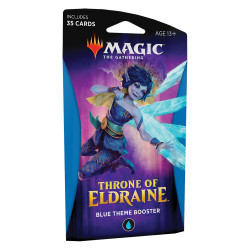 MAGIC THE GATHERING THRONE OF ELDRAINE BLUE THEME BOOSTER VERSION ANGLAIS
