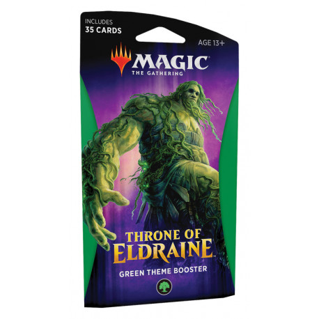 MAGIC THE GATHERING THRONE OF ELDRAINE GREEN THEME BOOSTER VERSION ANGLAIS