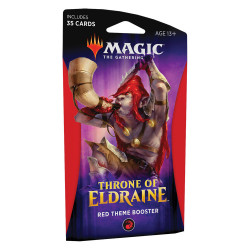 MAGIC THE GATHERING THRONE OF ELDRAINE RED THEME BOOSTER VERSION ANGLAIS