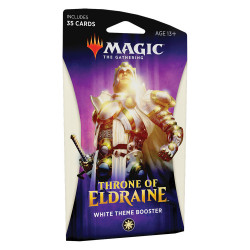 MAGIC THE GATHERING THRONE OF ELDRAINE WHITE THEME BOOSTER VERSION ANGLAIS