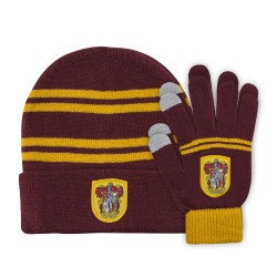 BEANIE AND GLOVES FOR KIDS GRIFFONDOR HARRY POTTER