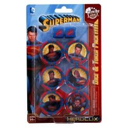 SUPERMAN DC COMICS HEROCLIX DICE AND TOKEN PACK