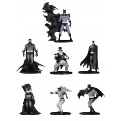 BATMAN BLACK & WHITE PACK 7 FIGURINES PVC BOX SET NUMERO 4 TAILLE ENV 10 CM