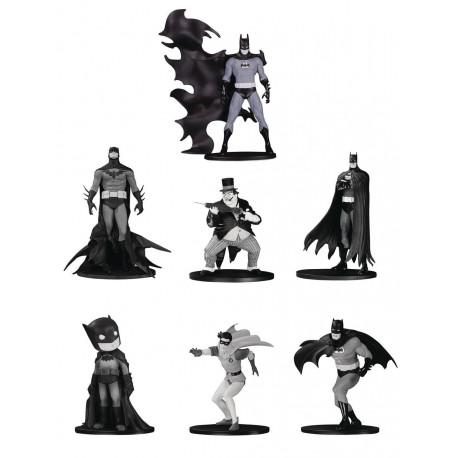 BATMAN BLACK & WHITE PACK 7 FIGURINES PVC BOX SET NUMERO 4 TAILLE ENV 10 CM