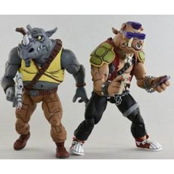 BEBOP & ROCKSTEADY LES TORTUES NINJA PACK 2 FIGURINES 18 CM