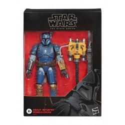 HEAVY INFANTRY MANDALORIAN EXCLUSIVE STAR WARS THE MANDALORIAN BLACK SERIES FIGURINE DELUXE 15 CM