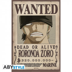 WANTED ZORO NEW ONE PIECE POSTER