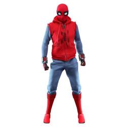SPIDER-MAN FAR FROM HOME FIGURINE MOVIE MASTERPIECE 1 6 SPIDER-MAN HOMEMADE SUIT 29 CM