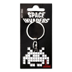 SPACE INVALIDERS LOGO METAL KEYCHAIN