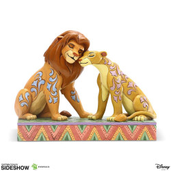 SIMBA AND NALA SNUGGLING LION KING DISNEY TRADITIONS STATUE